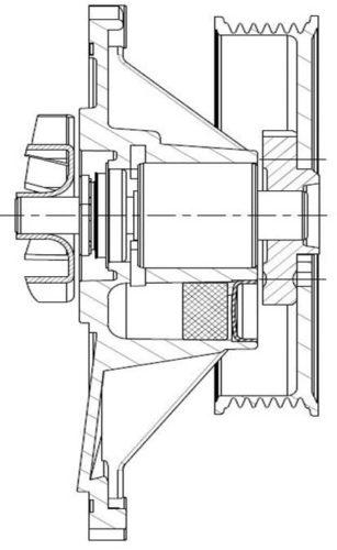 Einsteckpumpe mit Poly-V-Antrieb, Fa. NGPM Merbelsrod