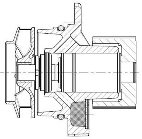 Einsteckpumpe mit Zahnriemenantrieb, Fa. NGPM Merbelsrod