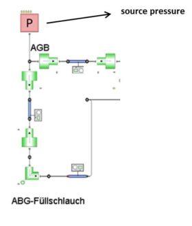 Kreislaufdruckvorgabe im Element source pressure