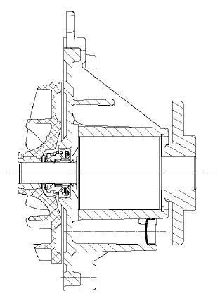 Einsteckpumpe mit druckseitig Dichtungsanordnung, Fa. NGPM Merbelsrod