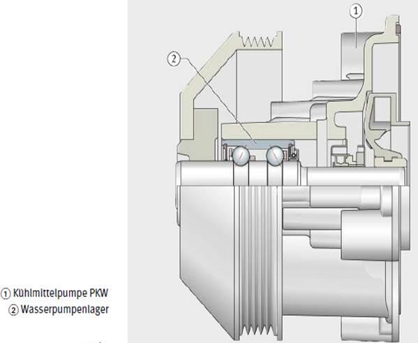 Kühlmittelpumpe mit Lagerung, Schaeffler AG & Co. KG
