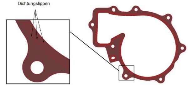 LEM-Dichtung (LEM-Liquid Elastomer Moulded), Fa. NGPM Merbelsrod