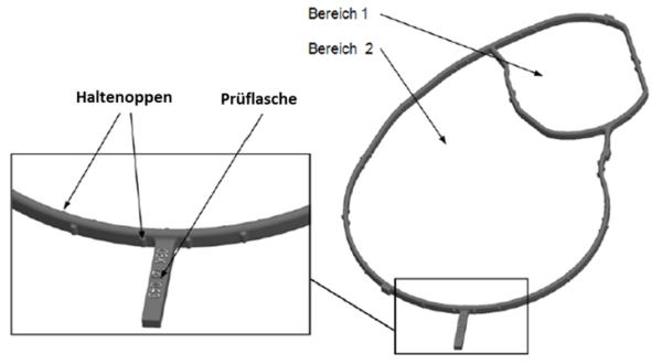 Profildichtung mit zwei getrennten Bereichen, Fa. NGPM Merbelsrod