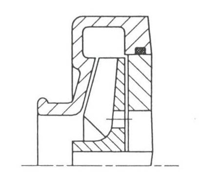 RF2 Schaufelrad offen, axialer Zulauf