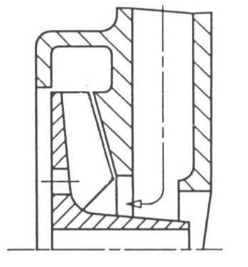 RF4 Schaufelrad offen, Zulauf über GLRD-Seite