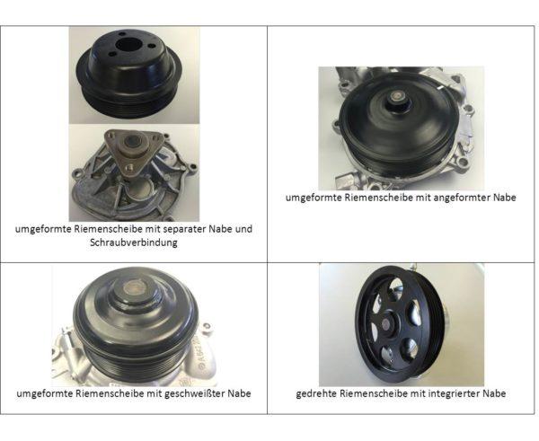 Riemenscheiben mit unterschiedlichen Herstellungsverfahren, Fa. NGPM Merbelsrod