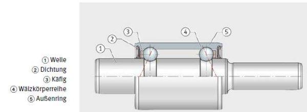 Aufbau Wasserpumpenlager, Schaeffler AG & Co. KG